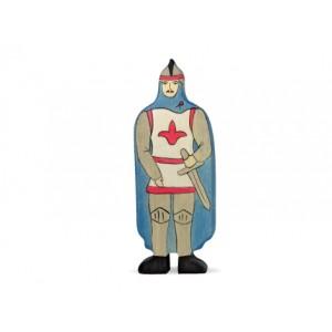 HOLZTIGER Ritter mit blauem Mantel