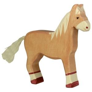 HOLZTIGER Pferd stehend, hellbraun