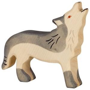 HOLZTIGER Heulender Wolf