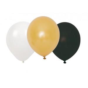 JaBaDaBaDo Luftballons Konfetti schwarz-weiß-gold (9 Stk.)