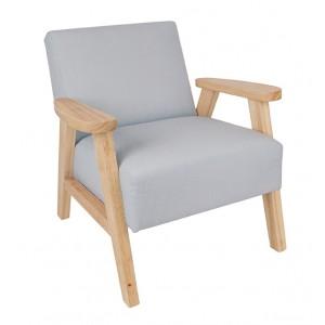 JaBaDaBaDo Sessel mit Armlehnen grau-natur