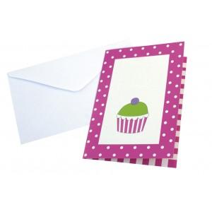 JaBaDaBaDo Einladungskarten Party pink (8 Stk.)