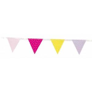JaBaDaBaDo Kleine Wimpelkette pink-gelb