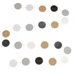 JaBaDaBaDo Papier-Girlande Dots natur