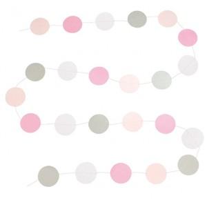 JaBaDaBaDo Papier-Girlande Dots rosa