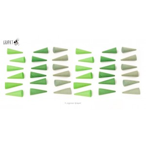 Grapat Mandala Kleine Grüne Kegel Cones