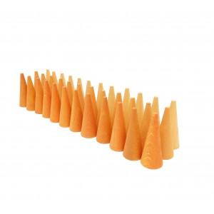 Grapat Mandala Kleine Orangefarbene Kegel Cones