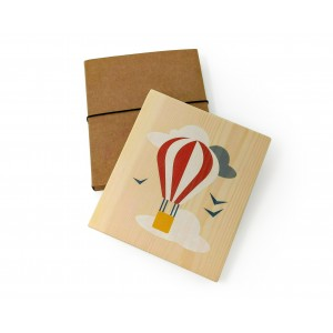 Lubulona Holzbild Illustration Ballon