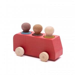 Lubulona Spielzeugbusse mit Holzfiguren - Holzspielzeug Profi
