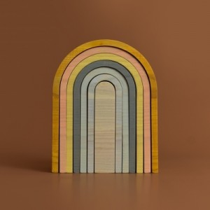 MinMin Copenhagen Big Rainbow Pastel - Holzspielzeug Profi