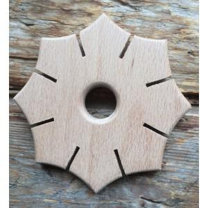 Speelbelovend Knüpfscheibe - Holzspielzeug Profi