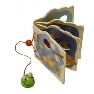Weizenkorn Holzbilderbuch Frosch