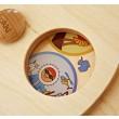 Lokki Wandspiel Drehscheibe mit Bildern: Kontinente: Detail - Holzspielzeug Profi