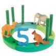 GRIMM´S Geburtstagsring klein, grün-türkis: Dekobeispiel - Holzspielzeug Profi