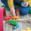 Grimm´s Bauspiel Holzzug: Spielidee  - Holzspielzeug Profi