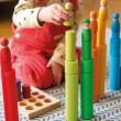 GRIMM´S Große Bauwalzen Regenbogen: Spielideen - Holzspielzeug Profi