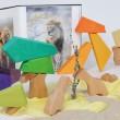 Grimm´s Bauspiel Regenbogenlöwe: Giraffen - Holzspielzeug Profi