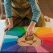 Grimm´s Bauspiel Regenbogenlöwe: puzzeln - Holzspielzeug Profi
