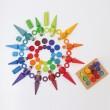 GRIMM´S Holztaler Regenbogen: kombiniert Spielidee - Holzspielzeug Profi