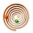 GRIMM´S Großes Bogenspiel natur: als Murmelbahn - Holzspielzeug Profi