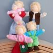 GRIMM´S Biegepüppchen Familie Linde- Holzspielzeug Profi