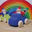 GRIMM´S Taschenzwerge Regenbogen mit Bart: kombiniert - Holzspielzeug Profi