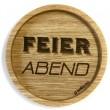 """Holzpost® Untersetzer Feierabend"""" - Holzspielzeug Profi"""