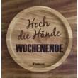 """Holzpost® Untersetzer Bierdeckel """"Hoch die Hände Wochenende"""" - Holzspielzeug Profi"""