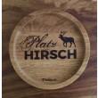 """Holzpost® Untersetzer Bierdeckel """"PlatzHirsch"""" - Holzspielzeug Profi"""
