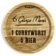 """Holzpost® Untersetzer Bierdeckel """"Currywurst"""" - Holzspielzeug Profi"""
