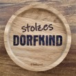 """Holzpost® Untersetzer Bierdeckel """"Stolzes Dorfkind"""" - Holzspielzeug Profi"""