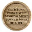 """Holzpost® Untersetzer Bierdeckel """"DU & ICH"""" - Holzspielzeug Profi"""