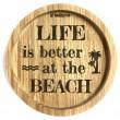 """Holzpost® Untersetzer Bierdeckel """"Beach"""" - Holzspielzeug Profi"""