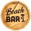 """Holzpost® Untersetzer Bierdeckel """"Beach Bar"""" - Holzspielzeug Profi"""