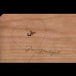 """Holzpost Grußkarte """"Zur Hochzeit Vogel"""" - Holzspielzeug Profi"""