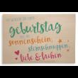 """Holzpost Klappkarte """"Geburtstagswünsche"""": Vorderseite - Holzspielzeug Profi"""