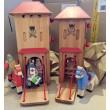 Drewart Größenvergleich: mittelgroßes und großes Tor mit Holztiger Rittern