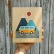 Lubulona Holzbild Illustration Bus: Größe - Holzspielzeug Profi