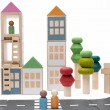 Lubulona Lubu Town: hier mit way to play Straßen - Holzspielzeug Profi