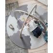 sebra Babygymnastikcenter aus Holz in warm grau: von oben - Holzspielzeug Profi