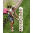 Übergames Riesenwackelturm aus Kiefer - im Einsatz