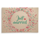 Holzpost® Klappkarte Just married