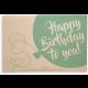 Holzpost® Klappkarte Happy Birthday Luftballon
